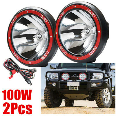 "Pair 9"" inch 100W HID Driving Lights Xenon Spotlights Off Road 4x4 Truck 12V F7"