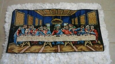 The Last Supper Velvet Tapestry Wall Hanging Rug Apostles Made In Italy