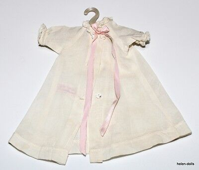 1950's LITTLE GENIUS ROBE - WHITE  / PINK RIBBONS - TAGGED - HAS COAT HANGER