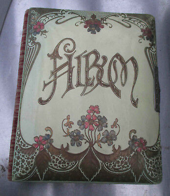 Antique Victorian Celluloid & Velvet Photo Album without photos