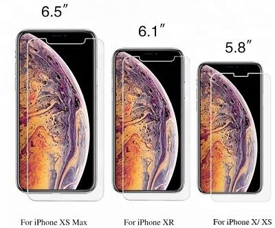 3-Pack 0.33mm 9H Glass Iphone Xs Max,Xs, and Xr Screen Protector