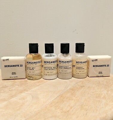 Le Labo Bergamote 22 Travel Gift Set Shampoo Conditioner Body Lotion and Soap