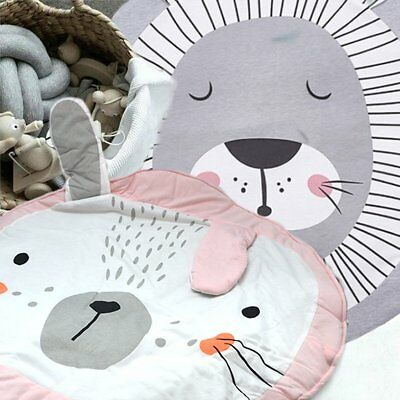 Soft Cotton Baby Kids Game Gym Activity Play Mat Crawling Blanket Floor Rug Gift