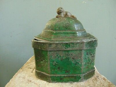 Antique Chinese Pewter Tea Caddy