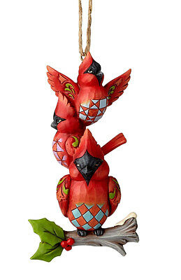 Jim Shore*STACKED CARDINALS ORNAMENT*New 2018*NIB*Bird*CHRISTMAS*6001517