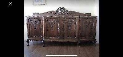 Antique oak dining set from Europe !!!
