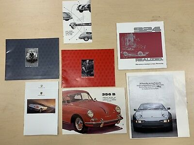 8 Porsche Brochures Collection Mint Condition