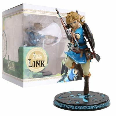 "10"" The Legend of Zelda: Breath of the Wild LINK Statue PVC Figure New in Box US"