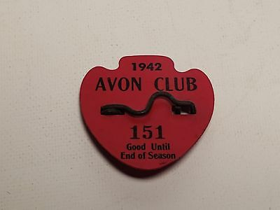 1942 Beach Badge-Avon Club-New Jersey-#151-Vintage-Nr(8)