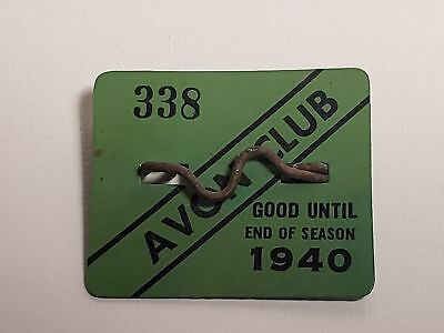 Old Beach Badge-1940 Avon Club-New Jersey-#338-Avon,nj-Nr(6)