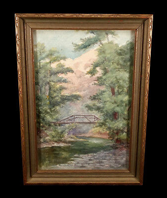 Antique California Landscape Painting Kate Powers Herrick Student Of Lp Latimer