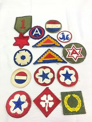 WW2 WWII US U.S. Patch Lot,Army,Division,Infantry,Air,Original,Force,Corps,War