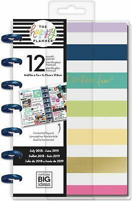 "Happy Planner 12-Month Dated Mini Planner 5.125x 7.5""-Keep Life Fun, Horztl"