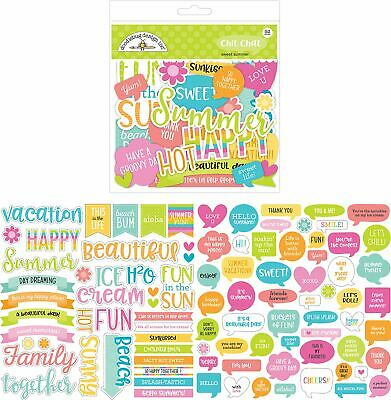 Odds & Ends Die - Cuts 92/Pkg - Sweet Summer Chit Chat - Doodlebug