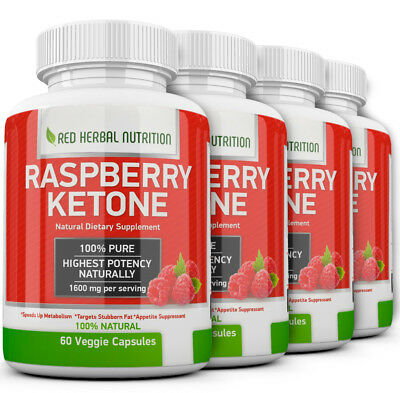 4X Advanced Weight Loss RASPBERRY KETONE 1600mg Extremely Fast Fat Burner Strong