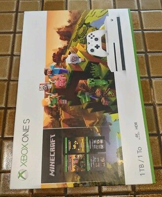 Xbox One S 1TB Minecraft Creators Bundle Console - Brand New / Factory Sealed