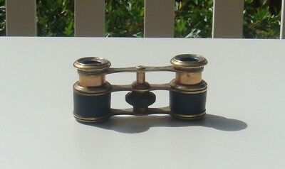 Vintage Brass Opera Glasses - in good condition - lenses need a clean - no case