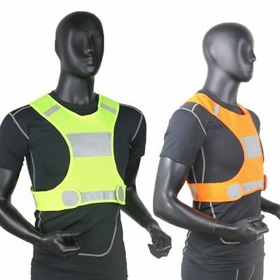Reflective Running Cycling Vest Top High Visibility Mens Women New Gift Vogue