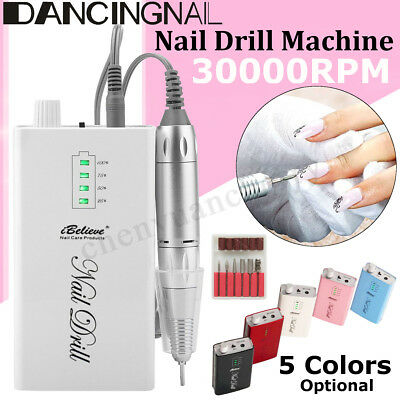 Portable Rechargeable 30000rpm Manicure Electric Nail Art Drill Manicure Machine