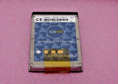 Callunacard CT520RM 520MB PC ATA Card PCMCIA Type III /PHONE ,NORTEL,ETC