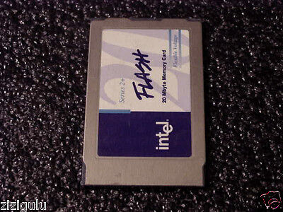 intel 20MB Series 2+ PCMCIA MEMORY CARD iMC020FLSP-15 /25-S Read / Write Tested