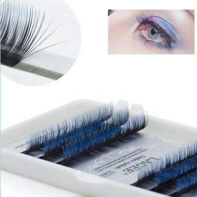 Cils Individuels Extension De Cils De Vison Blue False Eyelashes Soft Make Up