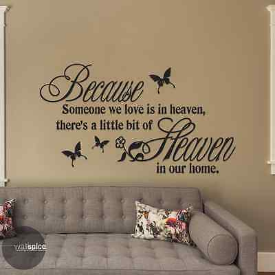 Someone We Love Is In Heaven Little Bit Of Heaven In Our Home Vinyl Wall Decal