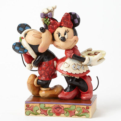 Disney*MICKEY & MINNIE MOUSE UNDER MISTLETOE*New*NIB*Jim Shore*CHRISTMAS*4039039