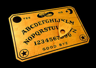 Wooden Ouija Board Set Vintage Antique Fuld Style Handmade with Planchette