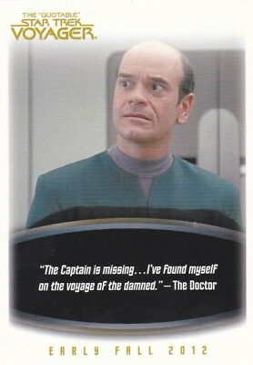 STAR TREK VOYAGER ...The Quotable ...Promo P2.... Card
