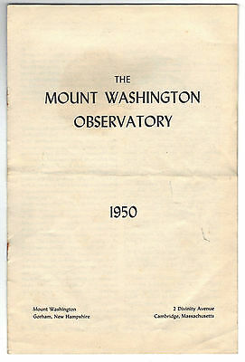Mount Washington Observatory 1950 brochure