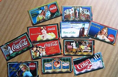 "1996  COCA  COLA  ""SIGN OF GOOD TASTE""  Trading Cards:  SET  OF 72  +  Free Post"