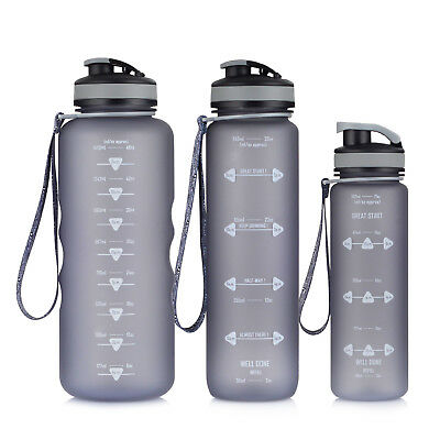 500ml, 1000ml, 1500ml Motivational Fitness Sports Water Bottle with Time Marker