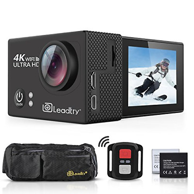 LeadTry TP2 HD Action Camera Full 4K Wi-Fi Sports Camera, Ultra-Thin 30M Cam Bag