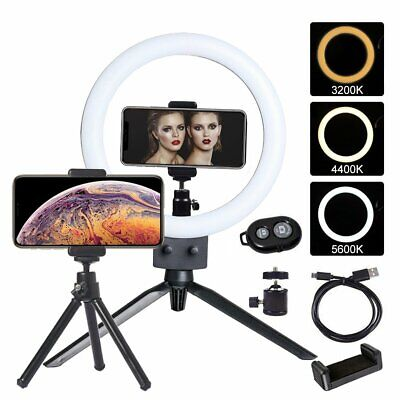 "9"" Dimmable LED Selfie Ring Light with stand kit for Makeup Youtube Live Photo"