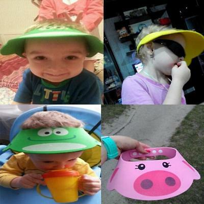 Kids Children Shampoo Bath Shower Cap Wash Hair Shield Hat Supplies FI