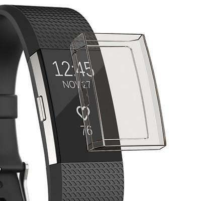 Watch Screen Protector Soft Silica Gel Protective Case Cover For Fitbit Charge 2