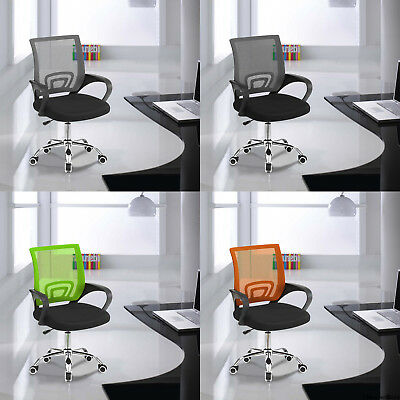 Mesh Office Chair Ergonomic 360° Swivel Lift Computer Desk Adjustable Height NEW
