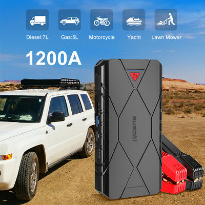 SUAOKI U18 16000mAh (1200A Peak) Jump Starter Chargeurs Power Bank 2-USB Type-C