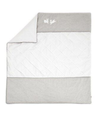 Mamas and Papas Welcome to the World Grey Hand Pleated Unisex Cot /Cot bed Quilt