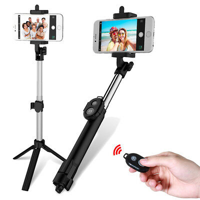 Extendable Selfie Stick Tripod BT Remote Shutter Monopod For Cell Phone