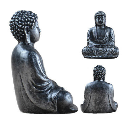 GJ Large Sitting Buddha Stone Effect Garden Outdoor Indoor Statue Ornament Thai