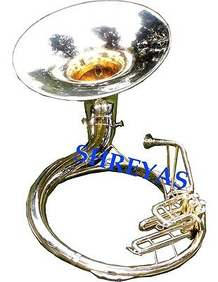 "Sousaphone Tuba handmade brass gold plated pendant 1.75/"" w//black necklace /& case"