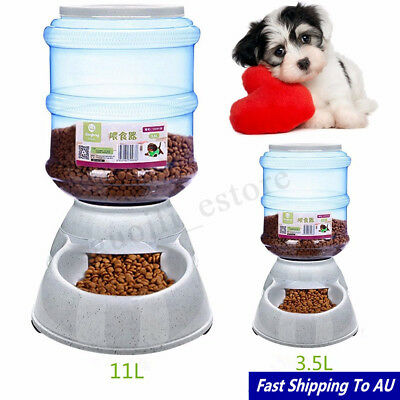Large Automatic Pet Dog Cat Water Feeder Bowl Bottle Dispenser Plastic 11 Liters