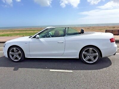 AUDI A5 2011 S-LINE 2L TDI CONVERTIBLE 6-SPEED MANUAL/Leather/FSH/Long MOT 2xKey