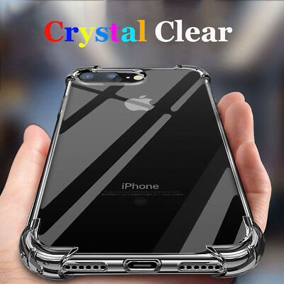 Fit iPhone XS Max XR Mosafe® Clear Transparent Shockproof TPU Bumper Case Cover