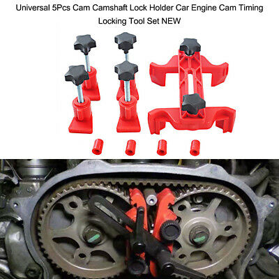 Universal 5Pcs Cam Camshaft Lock Holder Car Engine Cam Timing Locking Tool L2G4