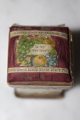 "Lovely Victorian Lithograph Folding Needle Sewing Case ""to My True Love"" ."