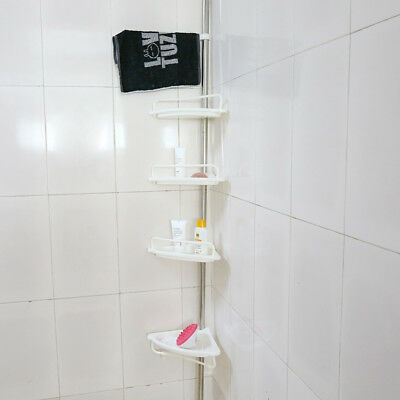 Stainless Steel 4 Tier Bathroom Corner Shelf Rack Shower Caddy Storage Bath