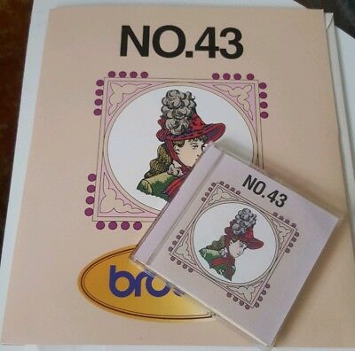 Brother embroidery card No. 43